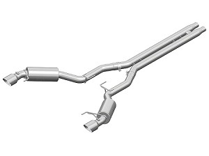 MBRP Street Cat-Back Exhaust w/ H-Pipe - Aluminized (15-17 GT)